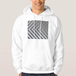 Hazard Stripe Metal Hoodie