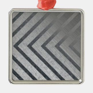 Hazard Stripe Metal Metal Ornament