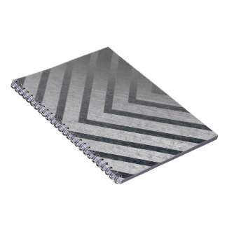 Hazard Stripe Metal Notebook