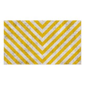 Hazard Striped Business Cards