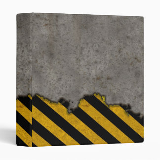 Hazard Striped Stone Texture Binder
