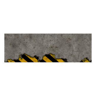Hazard Striped Stone Texture Business Card Template