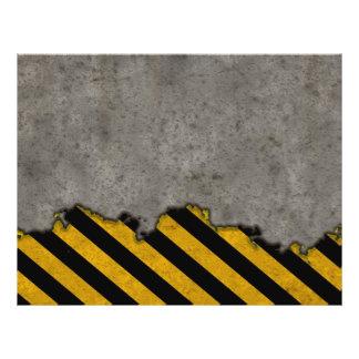 Hazard Striped Stone Texture Flyer