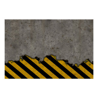 Hazard Striped Stone Texture Posters