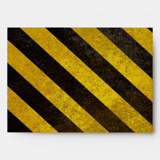 Hazard Stripes A7 Greeting Card Envelope