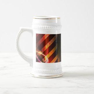 Hazard Stripes Abstract Layout Beer Stein