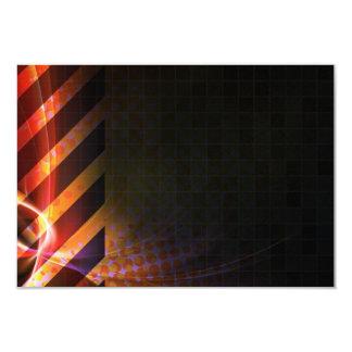 Hazard Stripes Abstract Layout Card