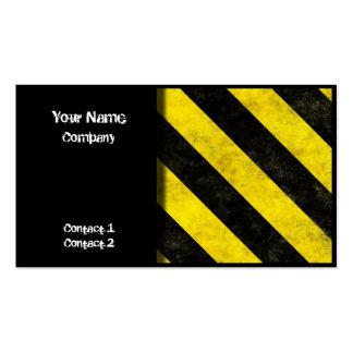 Hazard Stripes Design 01 - business cards