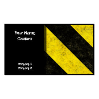 Hazard Stripes Design 02 - business cards