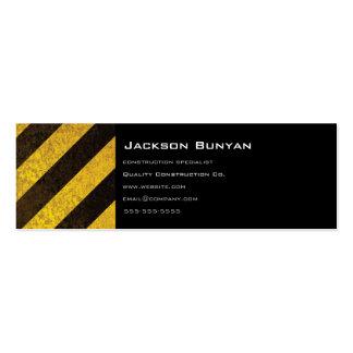 Hazard Stripes Skinny Profile Cards Business Cards