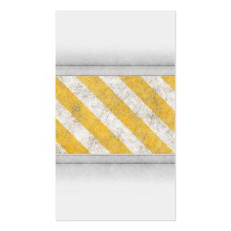 Hazard Stripes Warning Pattern Business Card Templates