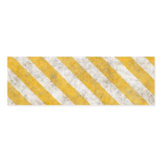 Hazard Stripes Warning Pattern Business Card Template