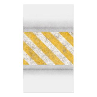 Hazard Stripes Warning Pattern Business Card
