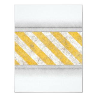 Hazard Stripes Warning Pattern Card