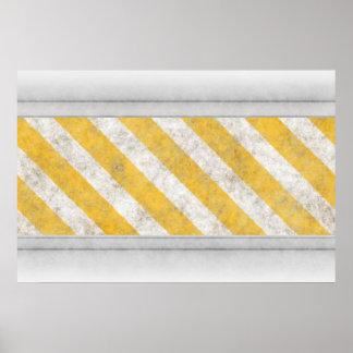 Hazard Stripes Warning Pattern Print