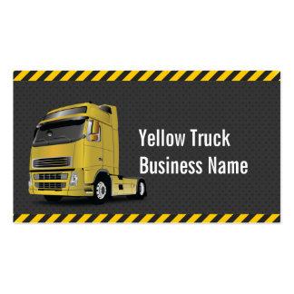 Hazard Stripes Yellow Truck Dark Business Card