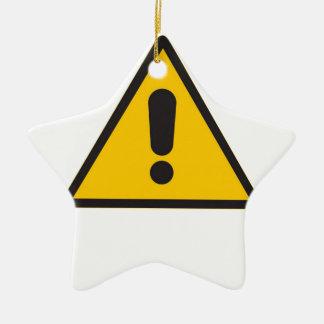 Hazard Symbol - General Danger.png Ceramic Ornament