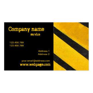 Hazard yellow black Business Card template