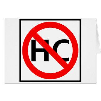 Hazardous Cargo Prohibited Highway Sign Card