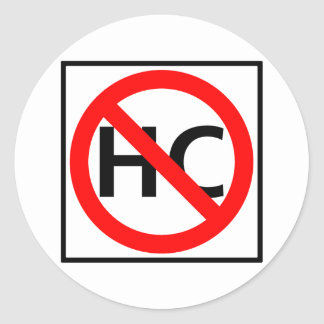 Hazardous Cargo Prohibited Highway Sign Classic Round Sticker
