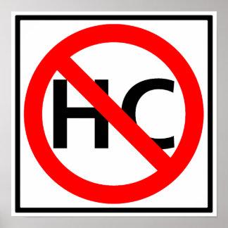 Hazardous Cargo Prohibited Highway Sign Posters