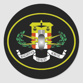 Hazardous Devices Logo Classic Round Sticker