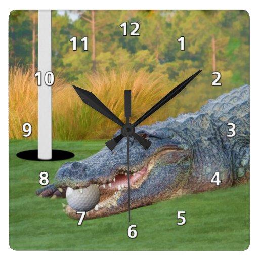 Hazardous Lie,  Gator, Golfer's Clock