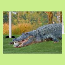 Hazardous Lie Golfing Alligator Card