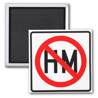 Hazardous Material Prohibited Highway Sign 2 Inch Square Magnet