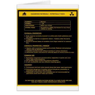 Hazardous Material Sign - Women Card