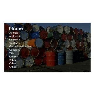 Hazardous waste barrels business card