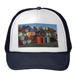Hazardous waste barrels trucker hat