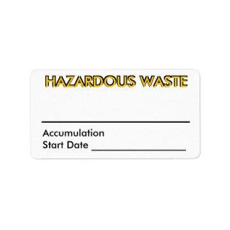 Hazardous Waste Personalized Address Label
