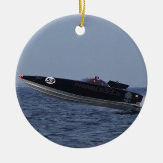 Hazards Of Powerboat Racing Ceramic Ornament