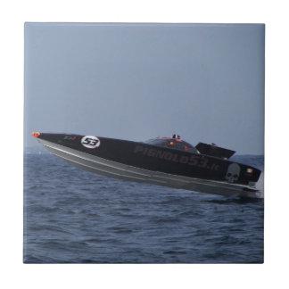Hazards Of Powerboat Racing Ceramic Tile