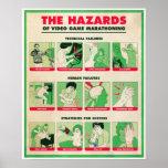 HAZARDS OF VIDEO GAME MARATHONING Poster