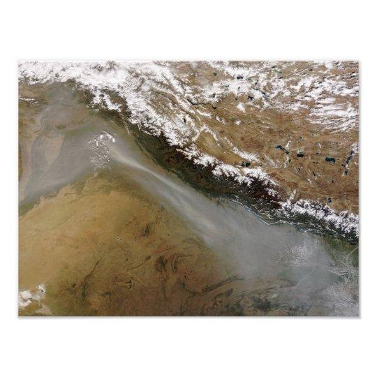 Haze along the Himalaya Mountains Photo Print