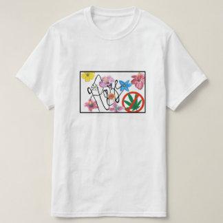 Haze Flower Tee-shirt Straight Logobox T-Shirt