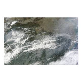 Haze over China Photo Print