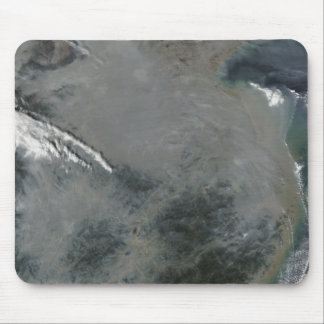 Haze over eastern China Mouse Pad