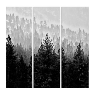 Haze over the trees triptych