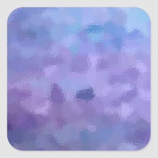 Hazed and Phased Purple Painting Square Sticker