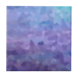 Hazed and Phased Purple Painting Tile