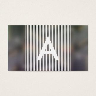 hazed monogram business card