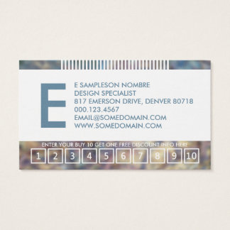hazed monogram loyalty business card