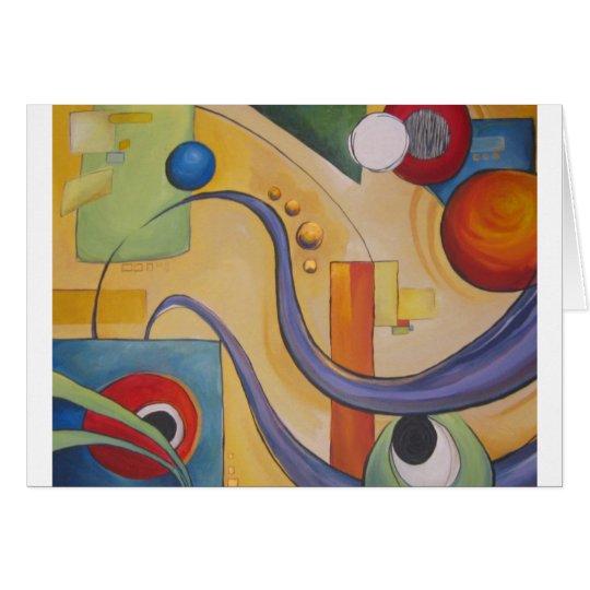 Hazel Abstract Card