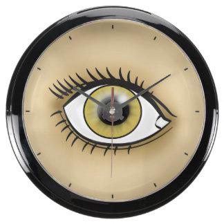 Hazel Eye icon Aquarium Clock