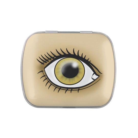 Hazel Eye icon Jelly Belly Candy Tins