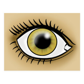 Hazel Eye icon Postcard