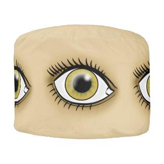 Hazel Eye icon Pouf